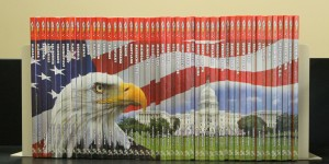 State Books w_Patriotic spine